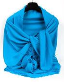 Blue scarf — Stock fotografie