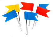 Color flag pins photo, marker push pin — Stock Photo