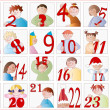 Baby Advent calendar — Stock Vector