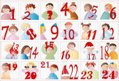 Baby Advent calendar — Stock Vector