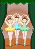The dancers of Ballet — Stock Vector