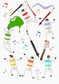 Dancing colors — Stock Vector