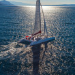 Catamaran sailing  — Stock Photo