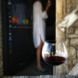 A glass of red wine — Stock Photo