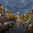 Stormy skies over Amsterdam — Stock Photo