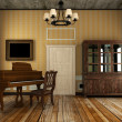 Old piano in the old room ( 3d rendering ) — Stock Photo
