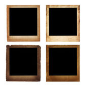 Old blank photos frames — Stock Photo