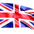Flag of United Kingdom ( 3d rendering ) — Stock Photo