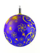 Christmas ball on white background ( 3d rendering ) — Stock Photo