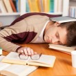 Sleeping at the library. — Stock Photo