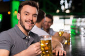 Man in bar — Stock Photo