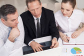 Pessoas de negócios, no trabalho — Fotografia Stock
