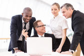 Discussing business people — Stock Photo