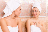 Women in sauna — Stock Photo