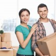 Moving to a new house. — Stock Photo