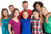 Group of cheerful young multi-ethnic people — Stock Photo