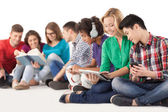 Group of multi-ethnic students — Stock Photo