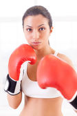 Woman boxing. — Stock Photo