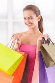 Buona giornata per lo shopping. — Foto Stock