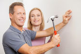 Repairing home together. — Stock Photo
