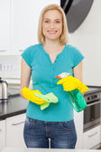 Housewife at work. — Stock Photo