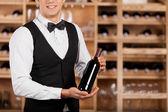 Presenting the best wine. — Stock Photo
