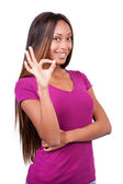 African woman showing OK! — Stock Photo