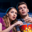 This movie is so scary! — Stock Photo