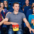 Flirting at the cinema. — Foto Stock