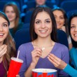 Girls at the cinema. — Stock Photo