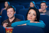 Feeling lonely at the cinema. — Stock Photo