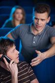 Can you stop talking? — Foto de Stock