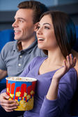What an exciting movie! — Stock Photo
