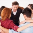 Group of people sitting in circle — Stock Photo #41506909
