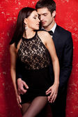 Well-dressed couple bonding — Stock Photo