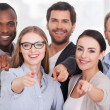 Business people pointing you — Stock Photo