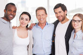 Group of cheerful business people — Stock Photo