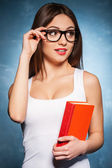 Confident and sexy teacher. — Stock Photo