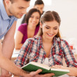 Students studying together. — Stock Photo