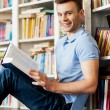 Student in library. — Stock Photo
