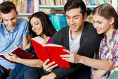 Students in library. — Stock Photo