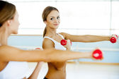 Strengthening her muscles. — Stock Photo