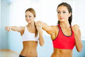 Women exercising. — Stock Photo