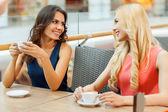 Friends drinking coffee. — Stock Photo