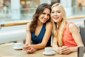 Two friends in cafe. — Stock Photo