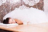 Woman in Turkish bath — Stock Photo