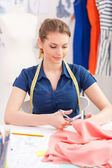 Confident tailor at work. — Stock Photo