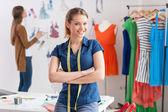 Fashion designers at work. — Stock Photo