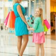 Mother and daughter shopping. — Stock Photo