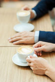 Drinking coffee together. — Stock Photo